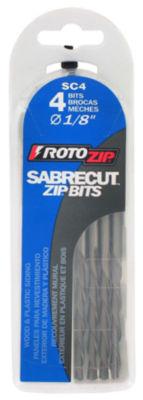 """Rotozip Sc4 1/8"""" Sabrecutª Zip¨ Bits 4 Count"""""""