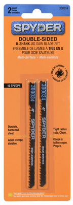 "Spyder 300014 4"" Double Sided U Shank Jig Saw Blades 2 Count"""