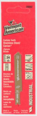 Vermont American 30002 2IN 24 Tpi Carbide TippedU-Shank Ap Jig Saw Blades
