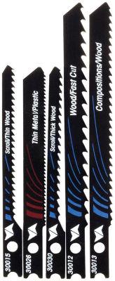 Vermont American 30034 5 Piece Setassorted U-ShankJig Saw Blades