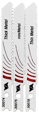 Vermont American 30045 3 Piece Bi-Metal U-Shank Metal Cutting Jig Saw Blade Set