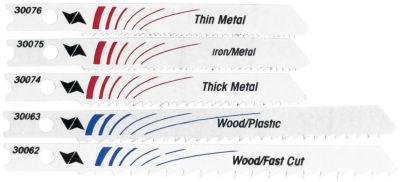 Vermont American 30084 5 Piece Set Assorted Bi-Metal U-Shank Jig Saw Blades