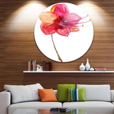 Design Art Beautiful Dual toned Star Flower LargeFlower Metal Circle Wall Art