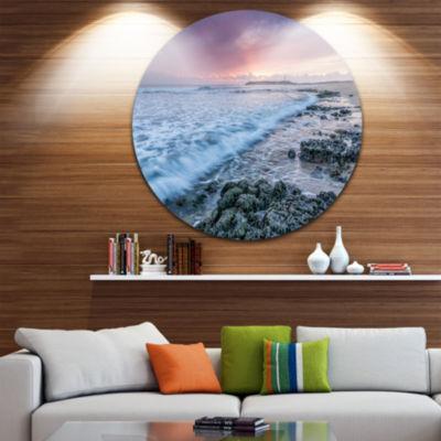 Design Art Sunset on Cape Trafalgar Beach SeascapeMetal Circle Wall Art