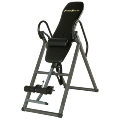FITNESS REALITY 690XL Additional Weight Capacity Inversion Table with Lumbar Pillow for Lower Back Support