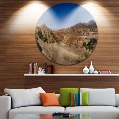 Design Art Hatta Mountains Landscape Disc Photography Circle Metal Wall Art