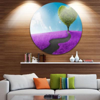 Design Art Heart Tree Abstract Disc Large Contemporary Circle Metal Wall Arts