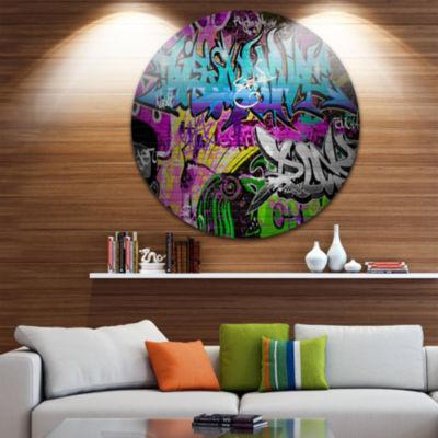 Design Art Graffiti Wall Urban Art Disc Abstract Street Art Circle Metal Wall Art