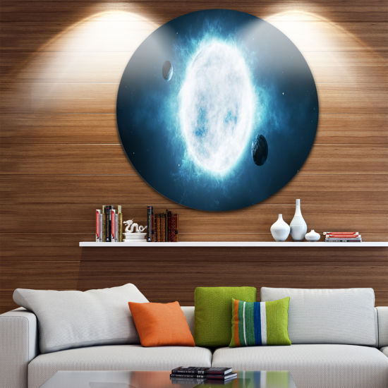 Design Art Large Star Spacescape Circle Metal WallArt