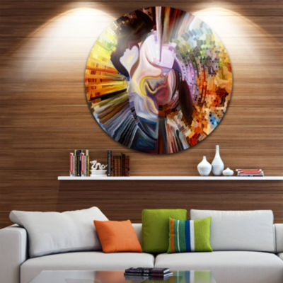Design Art Layers of Inner Paint Abstract Metal Artwork