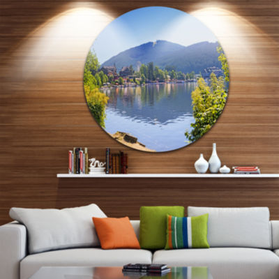 Design Art Lake Titisee Black Forest Germany DiscPhotography Circle Metal Wall Art