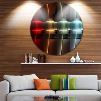 Design Art Kitchen with LED Lighting Abstract Circle Circle Metal Wall Art
