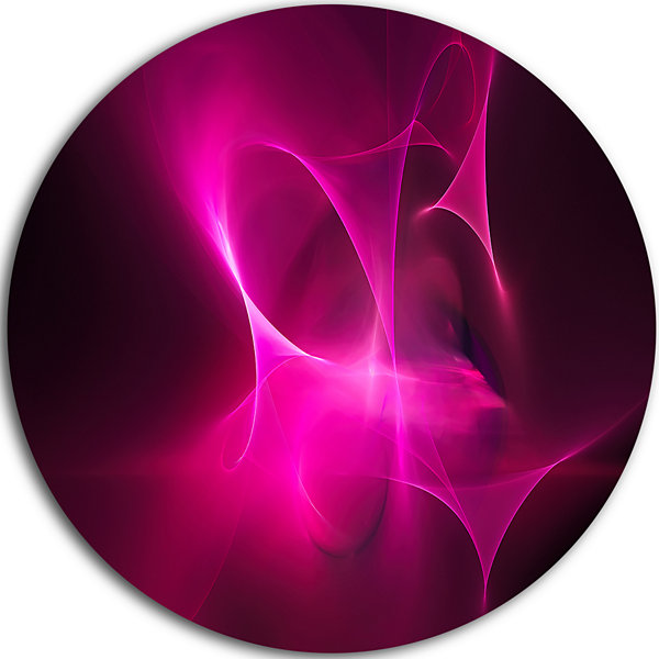 Design Art Magenta Fractal Desktop Disc Abstract Circle Metal Wall Art