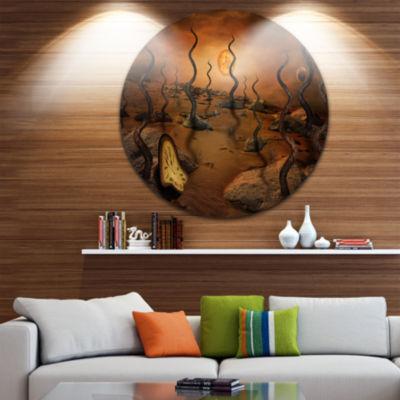 Design Art Looking to Future Abstract Circle MetalWall Art