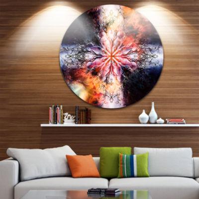 Design Art Mandala with Tree Pattern Abstract Arton Round Circle Metal Wall Decor Panel