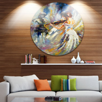 Design Art Love with Endless Music Abstract CircleMetal Wall Art