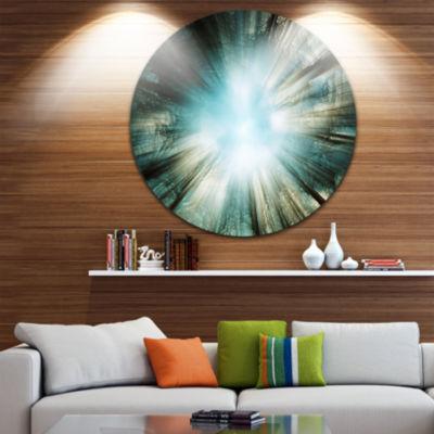 Design Art Light From Sky Abstract Circle Metal Wall Art