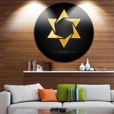 Design Art Luxury Golden Star Abstract Circle Metal Wall Art