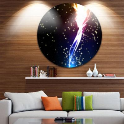 Design Art Light flower Disc Contemporary Circle Metal Wall Art