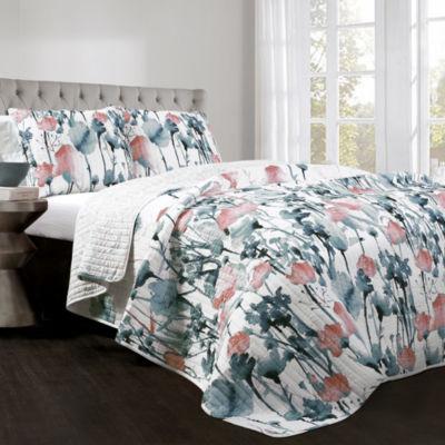 Lush Décor Zuri Flora Quilt Set