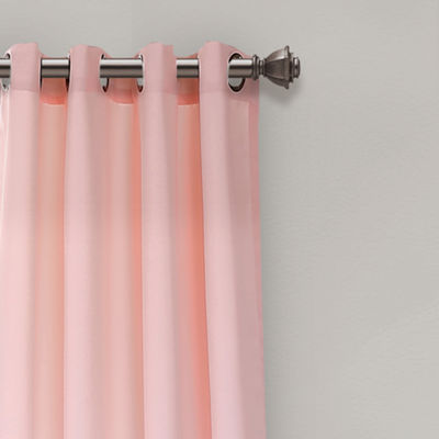 Half MoonUmbre Fiesta Room Darkening Window Curtain Panels Blush/Gray Set 52x84