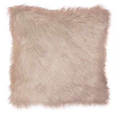 Greer Faux Fur Square Decorative Pillows