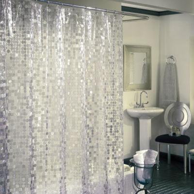 Excell Home Fashions Disco Shower Curtain