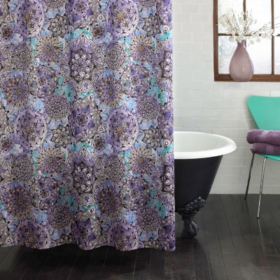 Excell Home Fashions Ode To Geode Shower Curtain