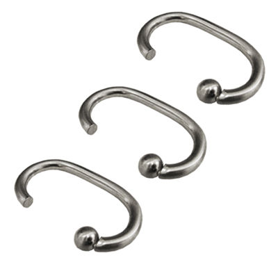 G Metal Shower Curtain Hooks Shower Curtain Hooks