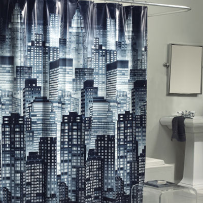 Cityscape Peva Shower Curtain