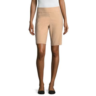 "Liz Claiborne 10"" Classic Fit Woven Bermuda Shorts"
