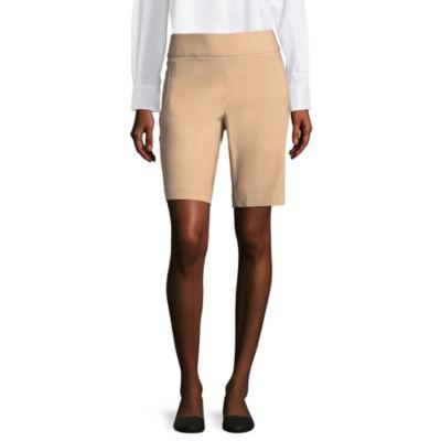 "Liz Claiborne 10"" Classic Fit Welt Pocket Bermuda Shorts"