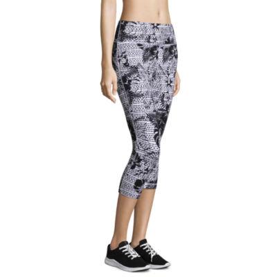 Xersion Modern Fit Skinny Leg Studio Cotton Printed Capris