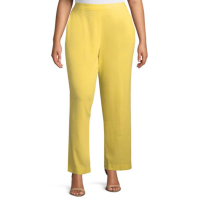 Alfred Dunner Still My Sunshine Classic Fit Pant- Plus