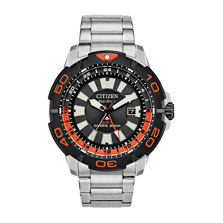 Citizen Promaster Gmt Diver Mens Silver Tone Stainless Steel Bracelet Watch - Bj7129-56e, One Size