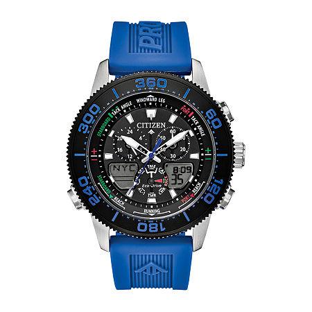 Citizen Promaster Sailhawk Mens Chronograph Blue Strap Watch-Jr4068-01e, One Size