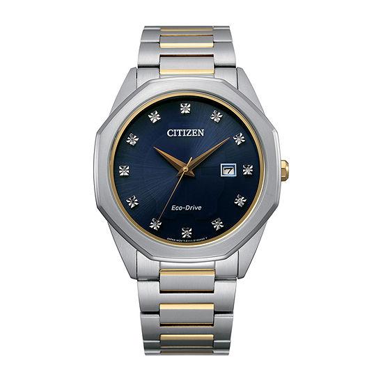 Citizen Mens Two Tone Stainless Steel Bracelet Watch-Bm7494-51l