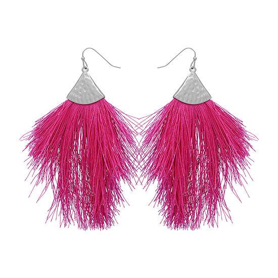 Bijoux Bar Fringe Drop Earrings