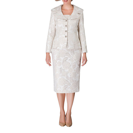 Giovanna Signature Brocade Skirt Suit-Plus
