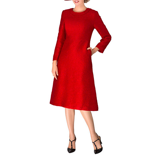 Giovanna Signature Long Sleeve A-Line Dress-Plus