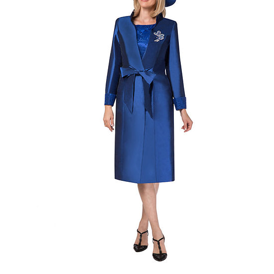 Giovanna Collection Long Sleeve Jacket Dress - Plus