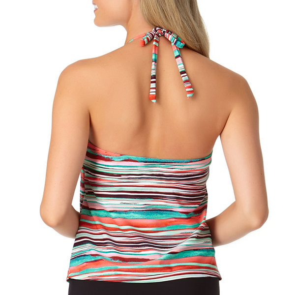 a.n.a Striped Tankini Swimsuit Top