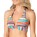 a.n.a Striped Halter Swimsuit Top