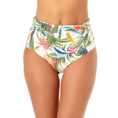 Liz Claiborne Tropical High Waist Swimsuit Bottom