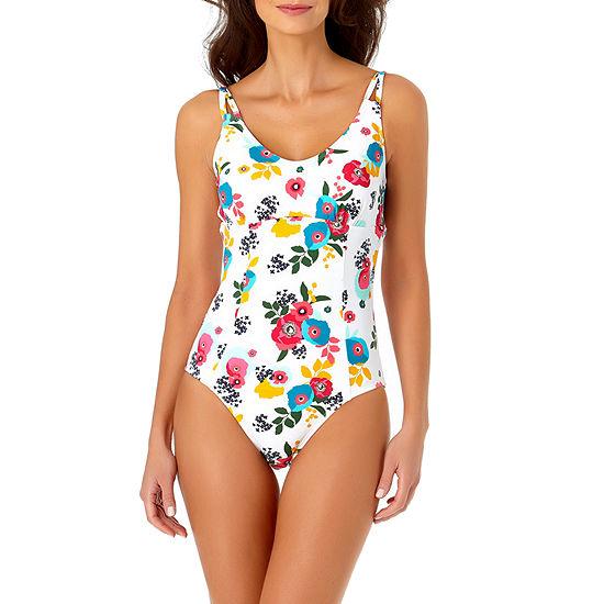 Liz Claiborne Floral One Piece Swimsuit