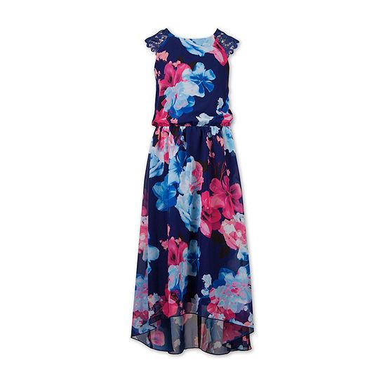 Speechless Little & Big Girls Sleeveless Floral Maxi Dress