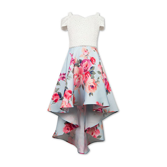 Speechless - Big Kid Girls Embellished Short Sleeve Cold Shoulder Sleeve Party Dress