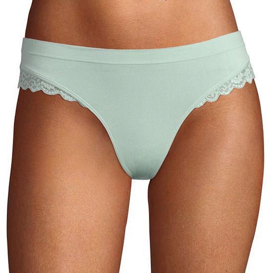 Ambrielle Seamless Knit Thong Panty 11p050