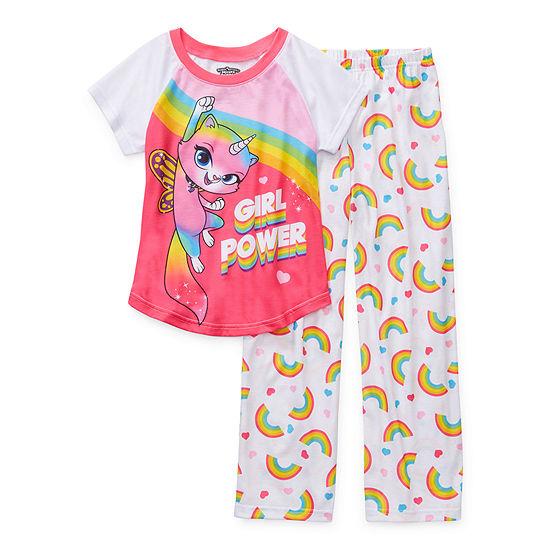 Little Kid / Big Kid Girls 2-pc. Powerpuff Girls Pant Pajama Set