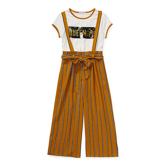 Knit Works Girls 2-pc. Overall Set